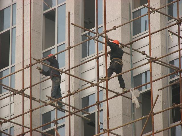 نصب داربست فلزی نمای ساختمان کرج